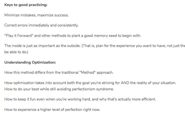 (T-T1) Keys to Optimal Learning for Musicians